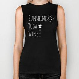 Sunshine Yoga Wine Gifts Biker Tank