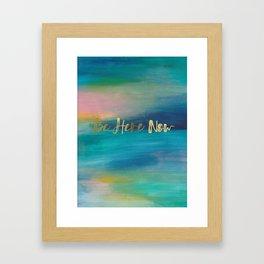 Be Here Now, Ocean Sunrise 4 Framed Art Print