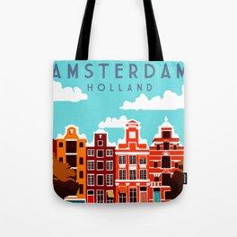 Vintage Amsterdam Holland Travel Tote Bag