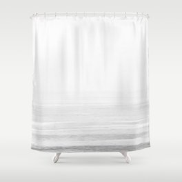 Washed Out Ocean Waves B&W // California Beach Surf Horizon Summer Sunrise Abstract Photograph Vibes Shower Curtain