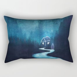 Alone In A Ghost Town Rectangular Pillow