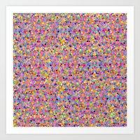 Rainbow Dots Art Print