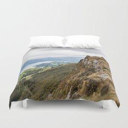 High Upon a Mountain Top, Akaroa, New Zealand Duvet Cover