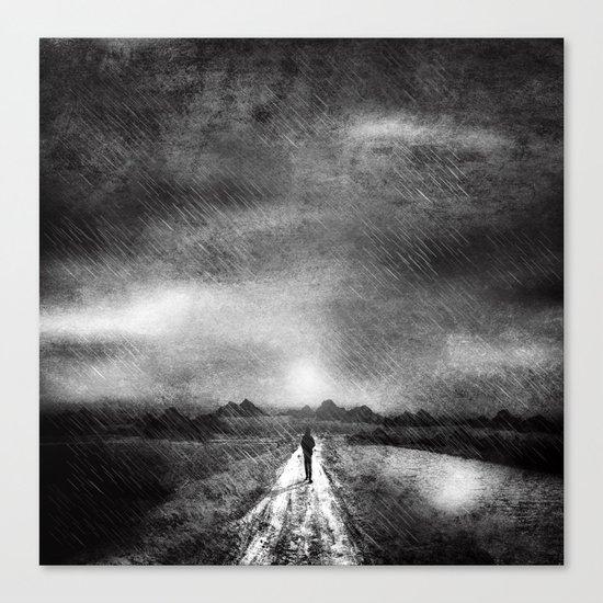 it's raining again (b&w) Canvas Print