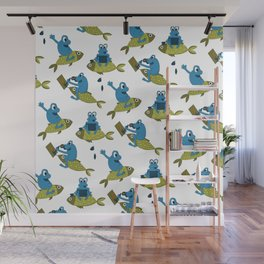 Funny Frogs Pattern Wall Mural