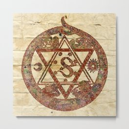 Sacred and Ancient Symbolism by PB Metal Print