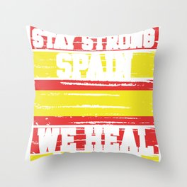 Spain Stay Strong Spain We Heal as One Throw Pillow