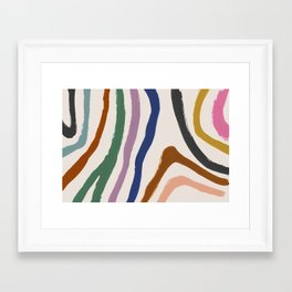 Zébra pop Framed Art Print