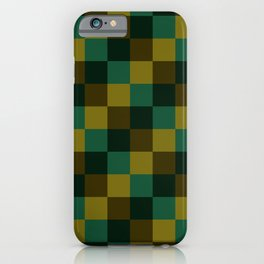 Modern overlapping camo squares iPhone Case