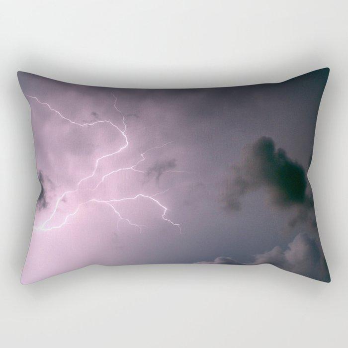 Lightning Storm Rectangular Pillow