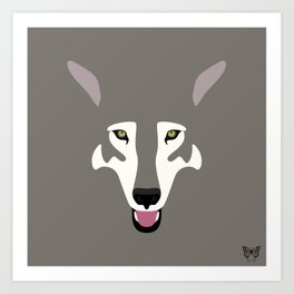 Gray Wolf (Tongues Out Project) Art Print