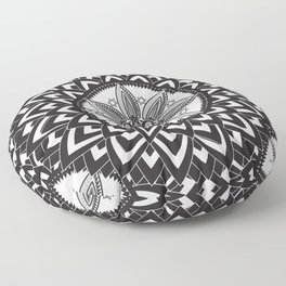BLACK AND WHITE MANDALA  Floor Pillow