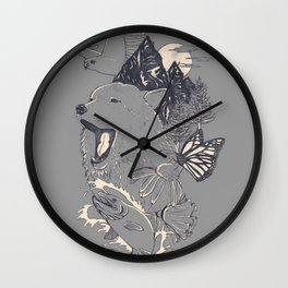 Northern Americana  Wall Clock