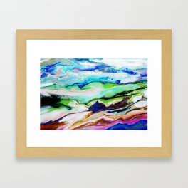 mountainous moments  Framed Art Print