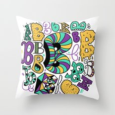 All the B's Throw Pillow