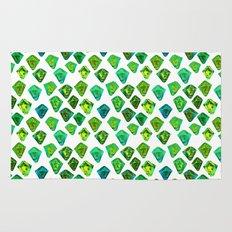 Green gemstone pattern. Rug