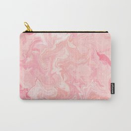 Blush pink abstract watercolor marble pattern Carry-All Pouch
