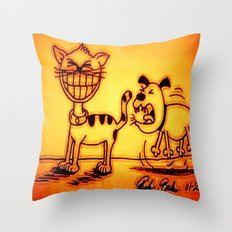 Cat & Dog Throw Pillow