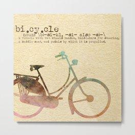 Bicycle Definition Metal Print