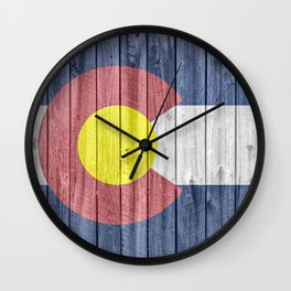 Colorado State Flag Barn Wall Gifts Wall Clock