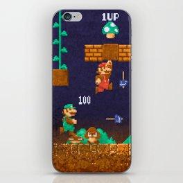Mario Super Bros iPhone Skin