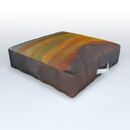 Eye of Portugal, Contemporary Oil Painting of sunset, COLORFUL Original Modern Art, Fine Art by Lu Outdoor Floor Cushion