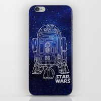 r2d2 iPhone & iPod Skins featuring r 2 d 2 by Vickn