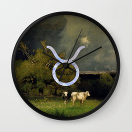Fine Zodiac / Taurus Wall Clock
