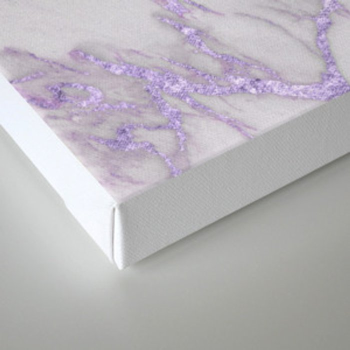 Ultra Violet Marble Canvas Print