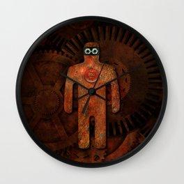 Rust Man - Steampunk Super Hero Wall Clock