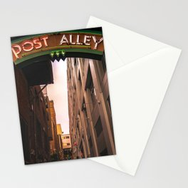 Post Alley in Seattle Washington Stationery Cards