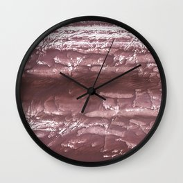 Brown wash drawing Wall Clock