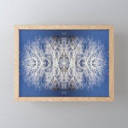 Silhouetted tree pattern Framed Mini Art Print
