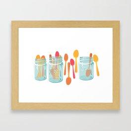 Party Spoons for Summer Framed Art Print
