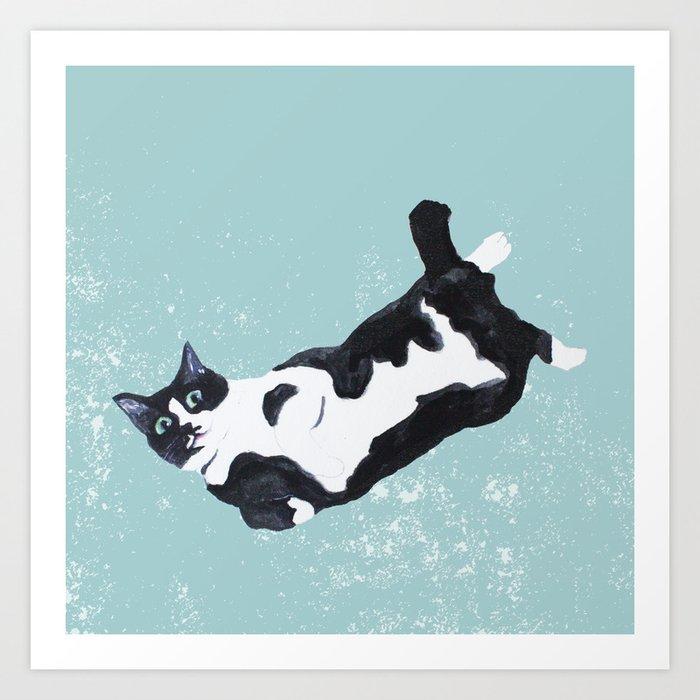 tuxedo cat Kunstdrucke
