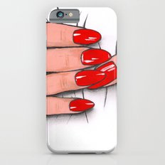 'Hold me tight don't let me go' -Seductive red nails. Ashley Rose Standish iPhone 6s Slim Case