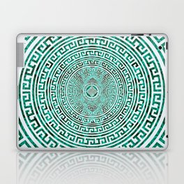 Circular Greek Meander Pattern - Greek Key Ornament Laptop & iPad Skin