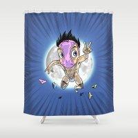 hentai Shower Curtains featuring KWeb #6 : Hentai Kamen (colors) by Adrien ADN Noterdaem