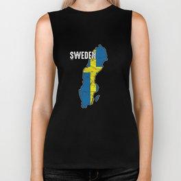 Patriotic Sweden Flag Swedish Nationalism Patriotism Biker Tank