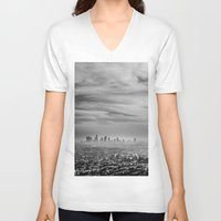 la V-neck T-shirts featuring LA by petervirth photography