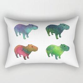 Space Capybaras Rectangular Pillow