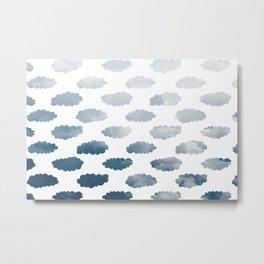 Cloudy Clouds Metal Print