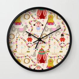Circus time - Fabric pattern Wall Clock
