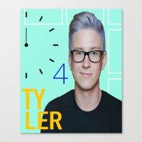 tyler oakley Canvas Prints featuring Time 4 Tyler Oakley  by Coyvan