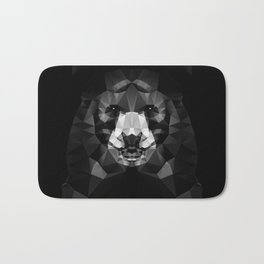 Bear - Black Geo Animal Series Bath Mat