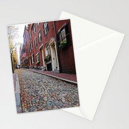 Acorn street views Stationery Cards