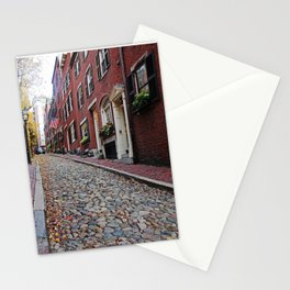 Acorn street views Stationery Cards