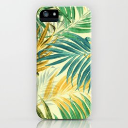 Palm Leaves in Yellow iPhone Case