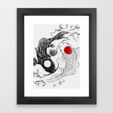Koi fish ying yang Framed Art Print