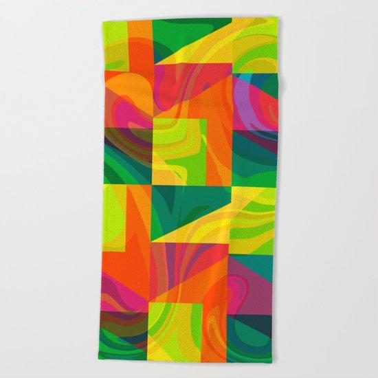 Funky geometric pattern Beach Towel